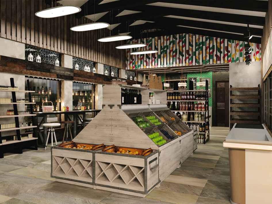 дизайн магазина продуктов в Москве