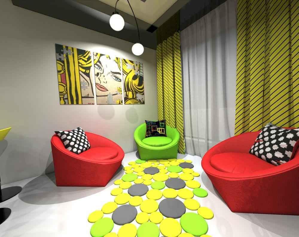 Дизайн квартир в стиле поп арт