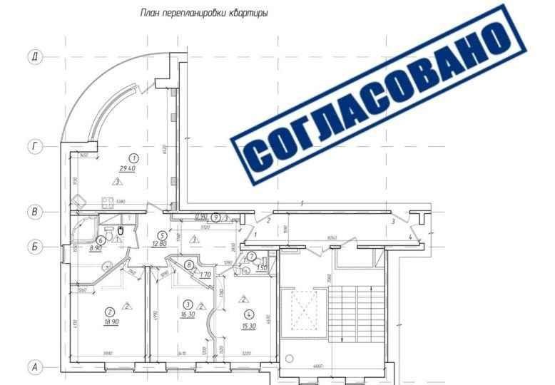 Дизайн и согласование перепланировки в Подмосковье